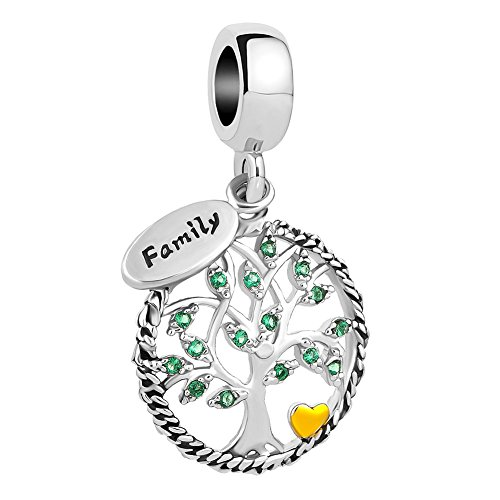 44ef78a8c Uniqueen Family Tree of Life Dangle Charms fit Pandora Charm Bracelet &  Necklace