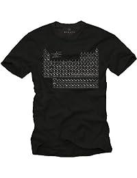 T-Shirt Homme TABLEAU PÉRIODIQUE DES ÉLÉMENTS Noir S-XXXL