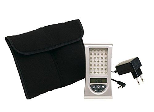 Lichttherapie Lichtdusche Gerät Wohlfühllicht 35 blaue LED mit Tasche 12,5 x 6,5 x 2 cm Tageslichtlampe für Tageslicht Lichttherapie individuell einstellbare Lichtintensität