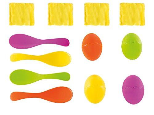 Preisvergleich Produktbild Idena 40074 - Eierlaufspiel mit Eigelb, Sandsäcken, bunt