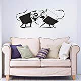 zhuziji Banksy Telecamere di Sicurezza Rimovibile Vinile Wall Art Sticker Decal Ragazzi Adolescenti Camera da Letto Soggiorno Finestra di casa Deracti Rosso 42 cm X 100 cm