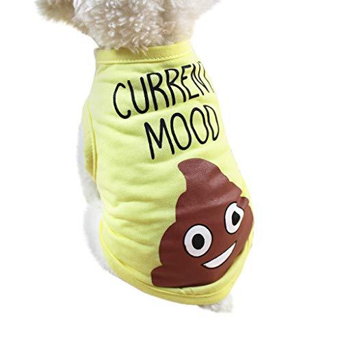 Hawkimin hundeanzug Frühling und Sommer-Hundekleidung schicker Druck Polyester-Weste-Welpen-Kostüm