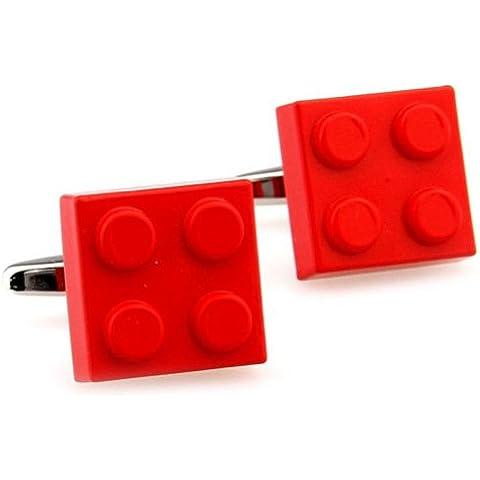 Classic Red quadrati lego gemelli - Stile Quadrato Gemelli