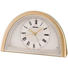Seiko qhe145g reloj de mesa con alarma y barrido de segunda mano.