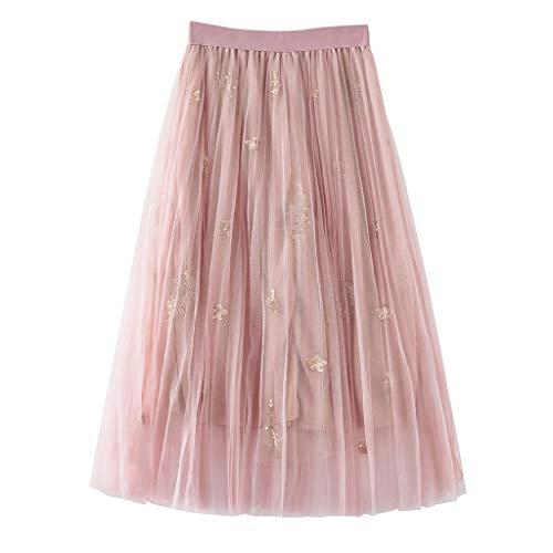 HCFKJ Faldas Mujer Cortas Falda Plisada De Cintura