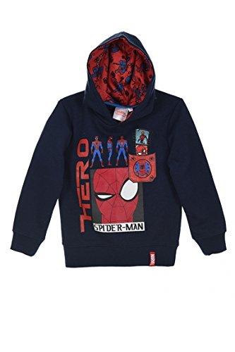 Spiderman Marvel Niños Sudadera con capucha (Azul , 4 Años)