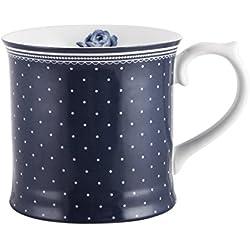 Katie Alice - taza vintage, de porcelana, azul marino