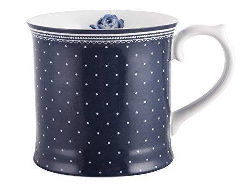 Katie Alice taza vintage, de porcelana, azul marino