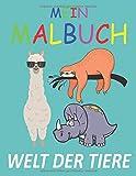 Mein Malbuch: Welt der Tiere: Malheft mit über 40 Seiten Malspaß für Kinder; male die tollsten Tiermotive