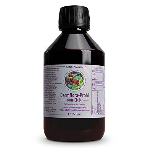 Darmflora-Probi FORTE Probiotikum, EM24, FLÜSSIG, Kräuter- und Pflanzenextrakt mit 24 effektiven Mikroorganismen, 250 ml, sehr angenehmer Geschmack