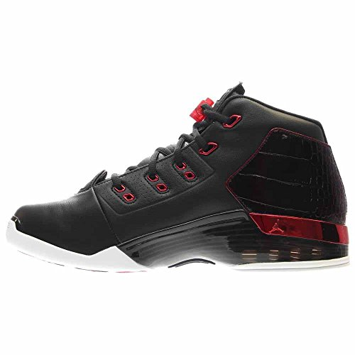 Nike Air Jordan 17 + Retro, Scarpe da Basket Uomo Black (Nero / Palestra Rosso-Bianco)