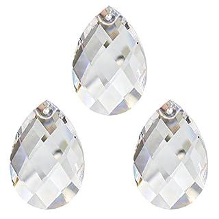 Set Kristall Pendel 50mm Facetten-Wachtel 3 Stück Regenbogenkristall Feng Shui Fensterschmuck Kronleuchter Behang mit 30% Bleikristall