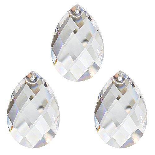 Set Kristall Pendel 50mm Kristall Wachtel 3 Stück - Regenbogenkristall - Feng Shui - Esoterik - Fensterschmuck - Kronleuchter