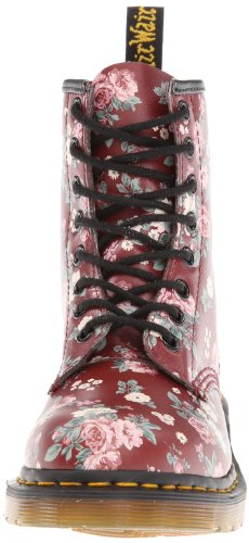 Dr Martens 1460 Little Flower, Damen Stiefel Rot (cherry Red)