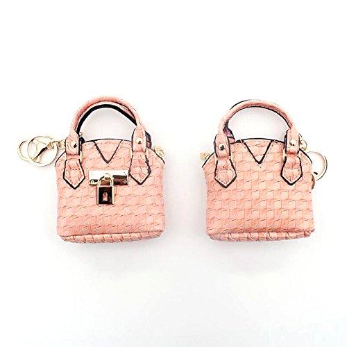 2pcs donne ragazze mini carino in pelle borsa della moneta sacchetto della moneta sacchetto sacchetto di immagazzinaggio chiave (motivo pied de poule) Verde