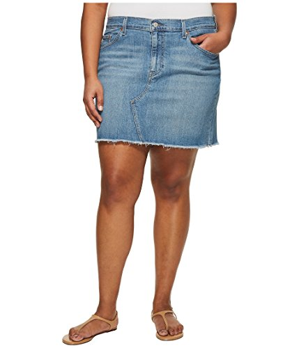 Levi's donna plus deconstructed skirt gonna - blu - 58 più