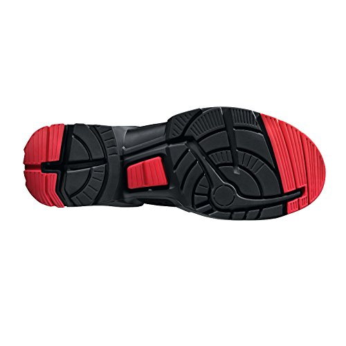 """Uvex Sicherheitsstiefel/botas de trabajo """"one"""" 8517 S3, negro/rojo, ancho: 11, diferentes tamaños, color negro, talla 42 negro - blanco / rojo"""