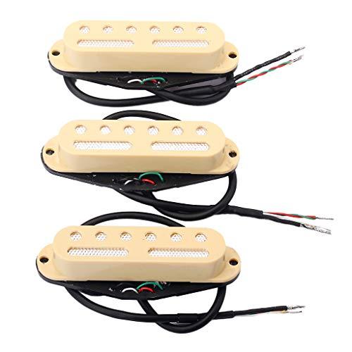 B Baosity Pack Of 3 Chitarra Elettrica Single Coil Pickup Neck Middle Bridge Sostituzioni Luthier Suuply