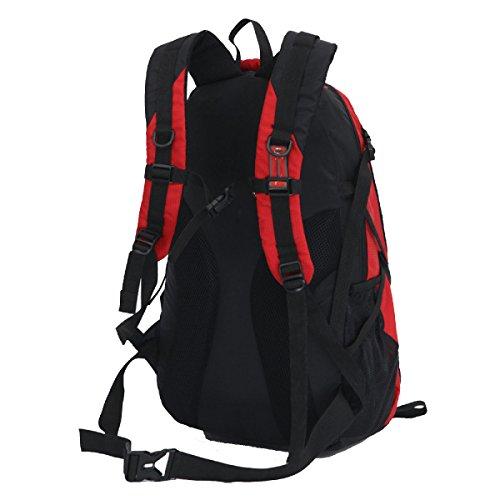 Xin.S55L Alpinismo Borsa A Tracolla All'aperto Impermeabile Nylon Zaino Di Grandi Dimensioni Campeggio Viaggio Sacco A Tendina. Multicolore Red