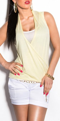 Sexy KouCla 2-in-1 maglia incrociata KouCla by in-Fashion Style SKU 0000T2922 Giallo