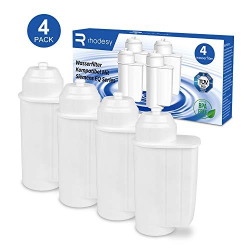 Rhodesy Wasserfilter für Siemens EQ 6/9 TZ70003, Filter Kompatibel mit Brita Intenza Siemens EQ Series TZ70033 Bosch TCZ7003 TCZ-7003 TCZ7033 (4er Pack)