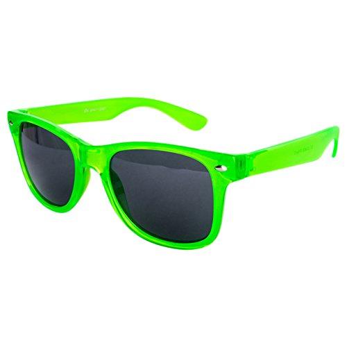 Ciffre EL-Sunprotect® Sonnenbrille Nerdbrille Brille Nerd Transparent Neon Grün UV400