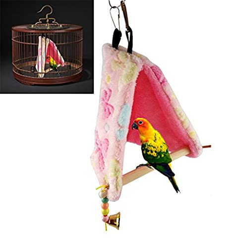 Top-Sell Bird Parrot Plush Hamac Cage Happy Hut Tente Lit Hanging Cave Swing Toys Nouveau