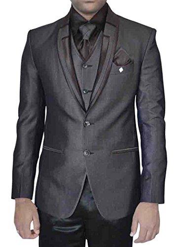INMONARCH in poliestere da uomo, colore: grigio scuro, foto 7-Costume aderente stile smoking TX5079 Dark-Grey