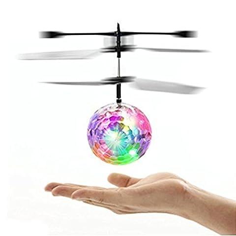 Tonwalk Flying RC Ball Infrared Induction Mini Flashing Light Remote