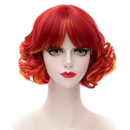 COSPLAZA Kurzen Wellen Curls Flat Pony Retro Mode Dame Cosplay Täglichen Kostüm Perücken Mixed ()