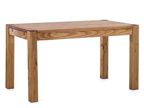 Brasilmöbel® Esstisch 120x80 Rio Kanto - Brasil Pinie Massivholz - Größe & Farbe wählbar - Esszimmertisch Küchentisch Holztisch Echtholz - vorgerichtet für Ansteckplatten - Tisch ausziehbar