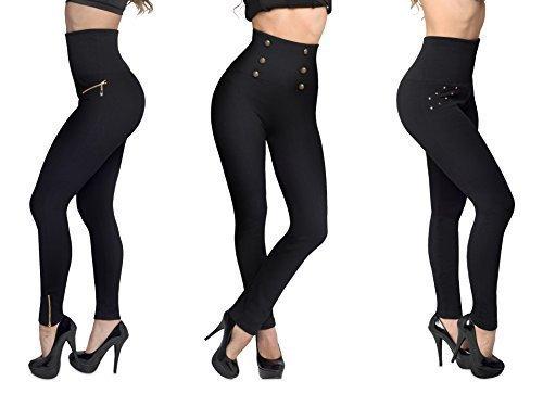 Hollywood Pants - Die neuen Schlankheits-Leggings, Du wirst gleich so schlanker aussehen! Größe S / M
