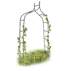 Relaxdays Arco da Giardino Decorazioni per il Giardino per Le Piante Rampicanti Metallo Verniciato 2,4 Metri Altezza