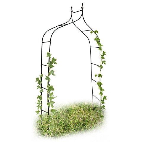 Relaxdays arco da giardino decorazioni per il giardino arco piante rampicanti, metallo, 2.4 mt