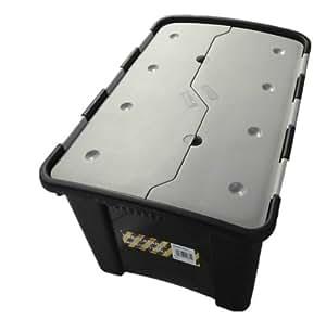 praktische multifunktionale aufbewahrungsbox mit 60 liter volumen und faltbarem deckel aus. Black Bedroom Furniture Sets. Home Design Ideas