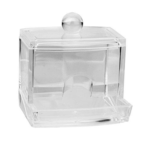 Boîte de Rangement Acrylique pour Coton-tige Organisateur Support Transparent