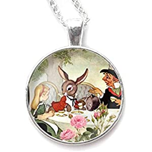 Kette mit cabochon, Alice im Wunderland