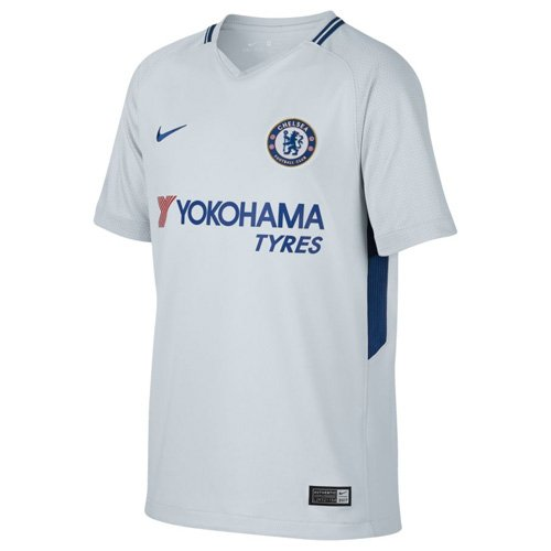 Nike Kinder Breathe Chelsea Stadium Trikot, Pure Platinum/Rush Blue, L