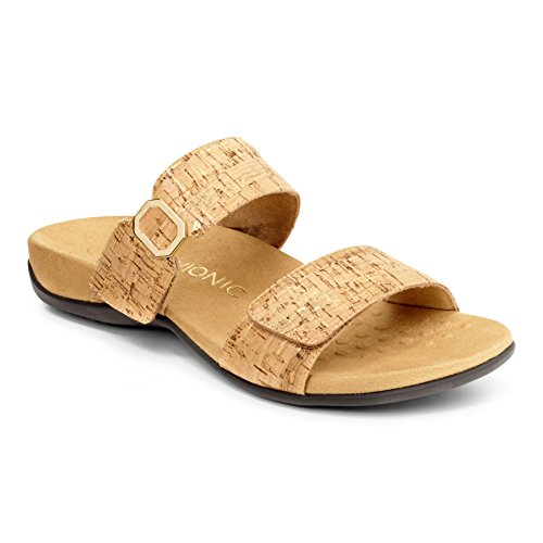 Vionic Womens Rest Camila Cork Synthetic Sandals 40 EU (Womens Orthaheel Schuhe)