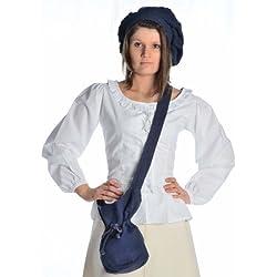 HEMAD Bolso de hombro medieval - en algodón – S Azul