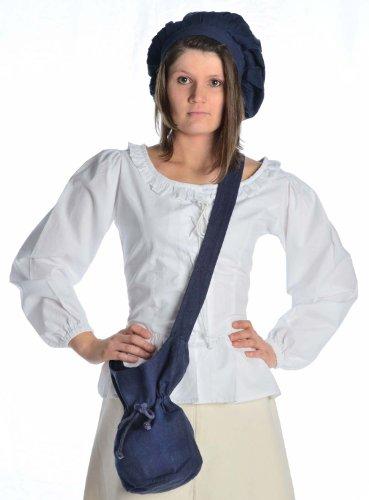 HEMAD Sac à bandoulière médiévale - Sac en coton – S Bleu