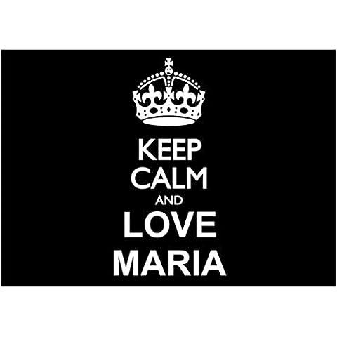 Teeburon Keep calm and love Maria Pack de 4 Pegatinas