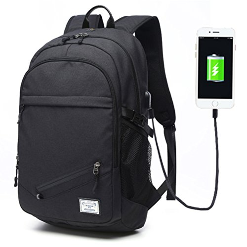 c41fa604a725 Keynew Business Laptop Backpack with USB Charging Port for Men Water  Resistant C