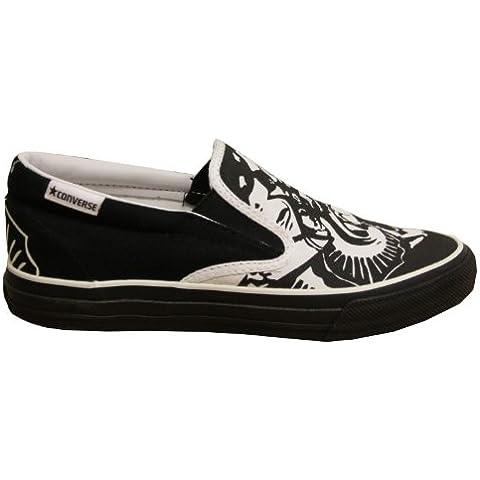 Converse Skateboard Skidgrip Ev Skulls White/ Black Slip On