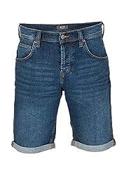 MUSTANG Herren Jeans Short Chicago - Blau - Denim Blue, Größe:W 31, Farbe:Denim Blue (882)
