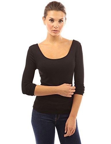 PattyBoutik Damen Bluse mit Corsage Spitze und langen Ärmeln Schwarz