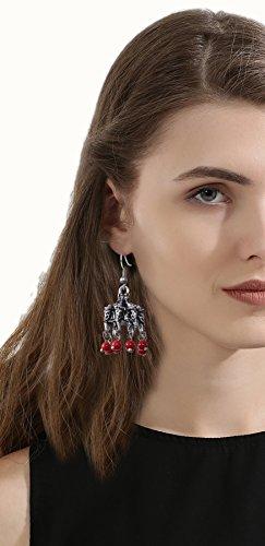 Sansar India Dangler Earrings for Women (Silver) (753)
