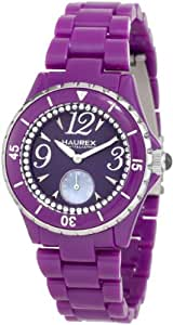 Haurex Italy Damenuhr Make Up Purple Dial Piastceamic Watch #PP342DPP