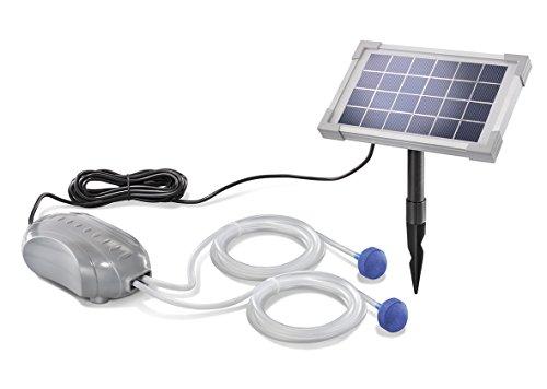 Solar Teichbelüfter DUO Air 2,5W Solarmodul 2 x 90l/h Förderleistung Gartenteich Pumpe Belüftung 101880