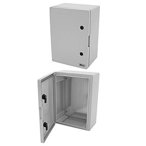 Schaltschrank IP65 500 x 700 x 245 mm mit verzinkter Montageplatte und Verriegelung Industriegehäuse Tür mit umlaufender Dichtung Leergehäuse ABS Kunststoff leer Schrank 500x700x245 ARLI 50x70x24,5 cm (Dichtung Verriegelung)